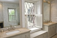 Napolina Limestone - Transitional - bathroom - Martha ...