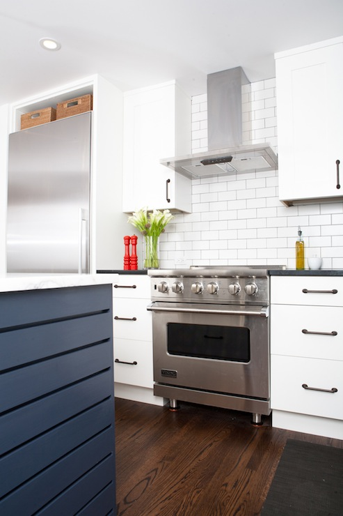 Blue KItchen Island  Contemporary  kitchen  Regan Baker