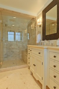 Travertine Shower Wall Design Ideas