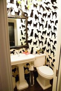 Best in Show Wallpaper - Eclectic - bathroom - Peppermint ...