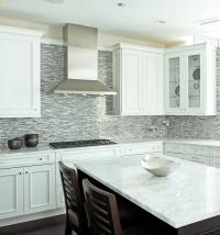 Blue Mosaic Tile Backsplash - Contemporary - kitchen ...