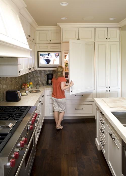 Tv In Kitchen  Transitional  Kitchen  Mueller Nicholls