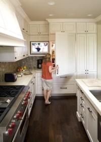 TV in KItchen - Transitional - kitchen - Mueller Nicholls