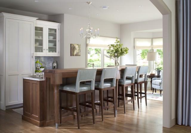 Blue Bar Stools  Contemporary  kitchen  Exquisite Kitchen Design