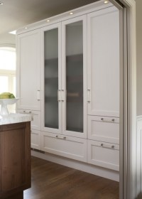 Frosted Glass Cabinet Doors - Contemporary - kitchen ...