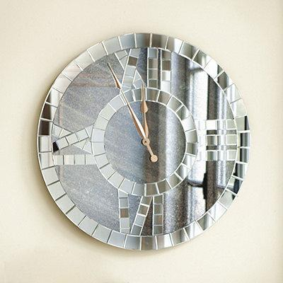 Antiqued Mirror Clock  Home Accessories  Ballard Designs