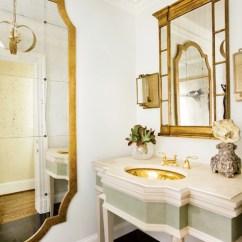 Modern Slipper Chair Oversized Arm French Bathroom Mirror S- - Circa Interiors & Antiques