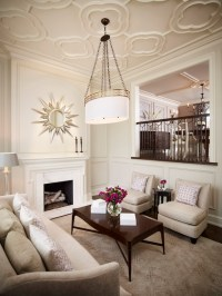 Quatrefoil Ceiling - Transitional - living room - Khachi ...