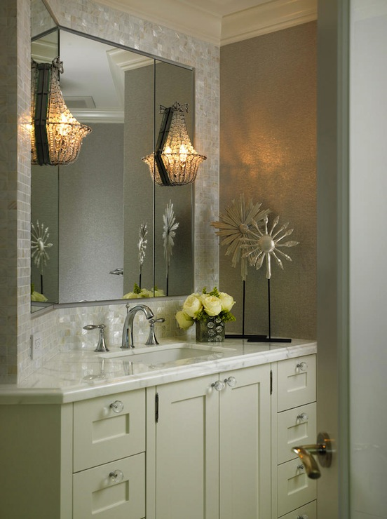 Beaded Wall Sconce  Transitional  bathroom  Cindy Ray