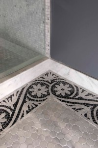 Mosaic Border Tiles - Transitional - bathroom - Artistic ...