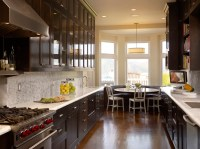 Chocolate Brown Cabinets - Contemporary - kitchen ...