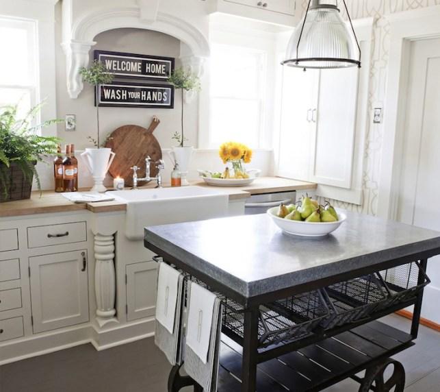 Suzie: FOUND - Vintage kitchen with Restoration Hardware Keynes Prism Pendant, York ...