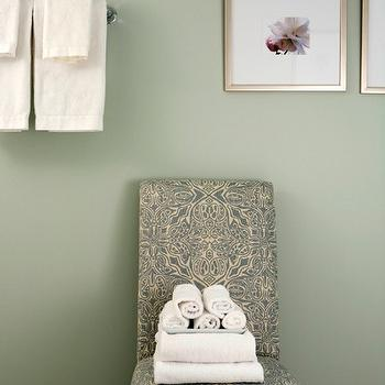 white leather slipper chair oak tables and chairs teal walls design ideas