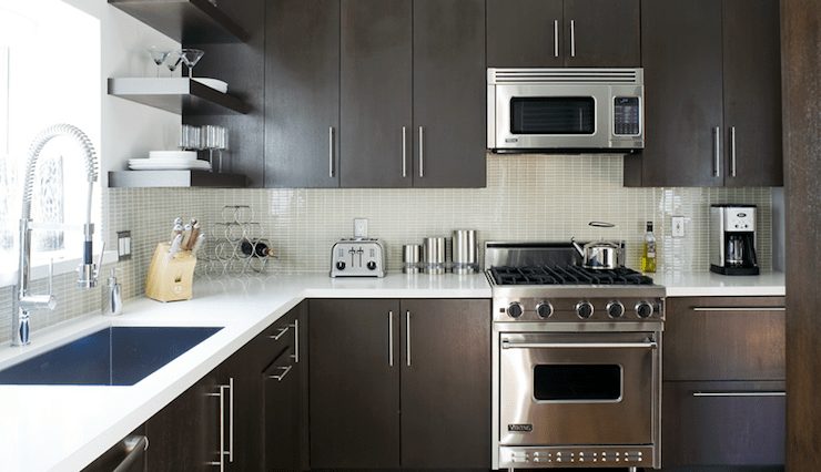 Espresso Cabinets  Contemporary  kitchen  Jeff Lewis Design