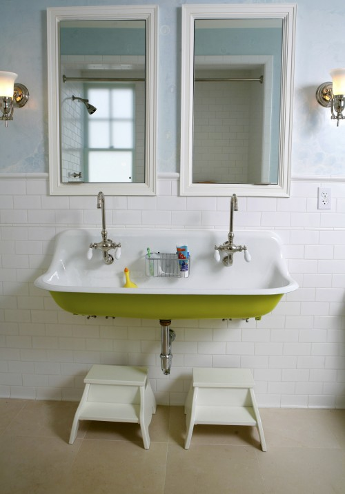 Kohler Brockway Sink  Cottage  bathroom  Upscale Construction