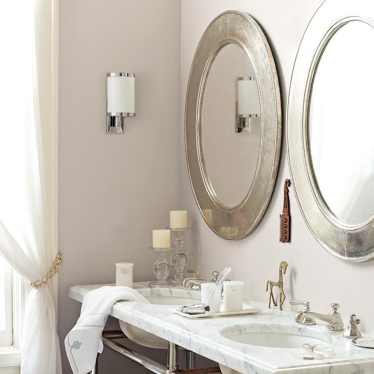 Silver bathroom Mirrors