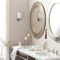 Silver bathroom Mirrors - Traditional - bathroom - Serena ...