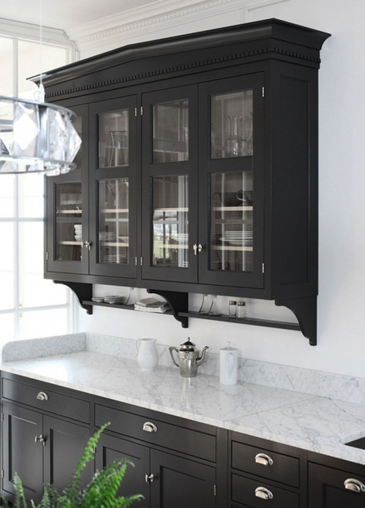 Glass Front Upper Cabinets Design Ideas