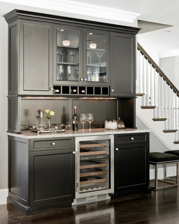 Black Butlers Pantry Cabinets  Transitional  kitchen