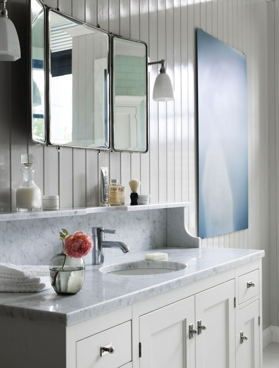 Folding Mirror  Cottage  bathroom  Kvanum