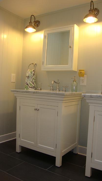 Girls Bathroom Design  Cottage  bathroom  Benjamin Moore Gray Owl  Steward of Design