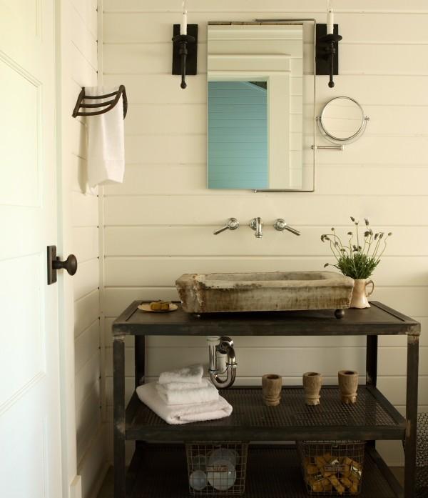 Industrial Floating Sink Vanity Design Ideas