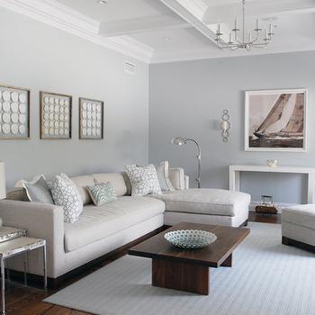Slate Blue Walls Living Room