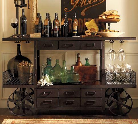 Sheffield Entertaining Bar Cart Pottery Barn