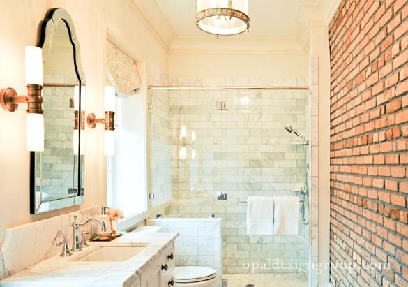 Allen  Roth Hovan Arch Frameless Mirror  Traditional  bathroom  Sherwin Williams Sea Salt