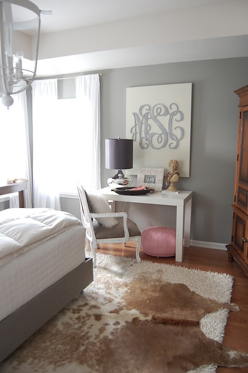 Grey Walls  Contemporary  bedroom  Martha Stewart