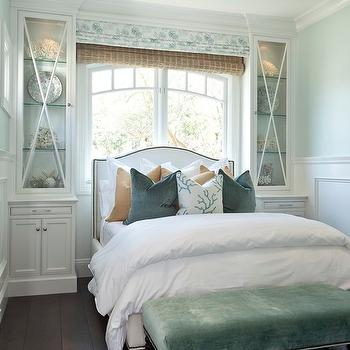 Bed In Front Of Window Design Ideas