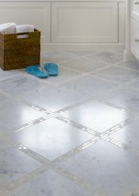 Mosaic Tile Floor - Transitional - bathroom - Graciela ...