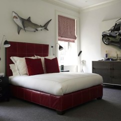 Red Living Room Furniture Sets Sofa Decorating Ideas Shark Wall Decor - Contemporary Boy's David ...
