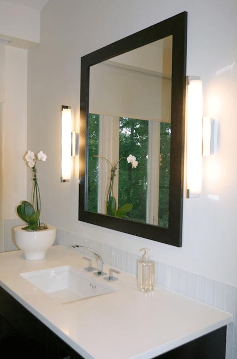 Black and White bathroom  Transitional  bathroom  Shaun