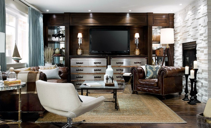 decorating living room dark brown leather sofa with no fireplace ideas steamer trunk dresser - eclectic brandon ...