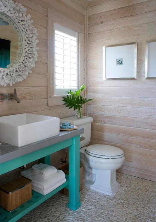 Coral Mirror  Cottage  bathroom  Caccoma Interiors