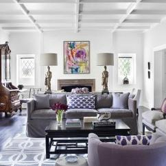 How To Decorate A Living Room With Black Leather Sectional Decoration For Table Purple Velvet Sofa Design Ideas