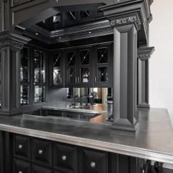 Zinc Top Kitchen Island Rolling With Seating Basement Wet Bar Design Ideas