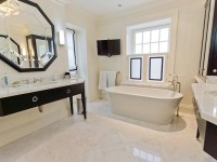 Octagon Mirror - Contemporary - bathroom - Pricey Pads