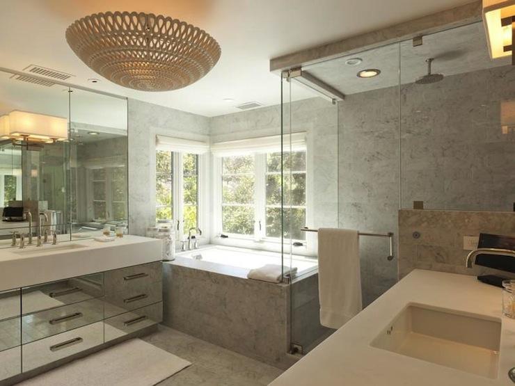 Carrara Marble Tile Bathroom Design Ideas