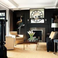 Black Moldings Design Ideas