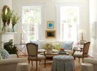 Zebra Print Ottoman - Cottage - living room - Lynn Morgan ...
