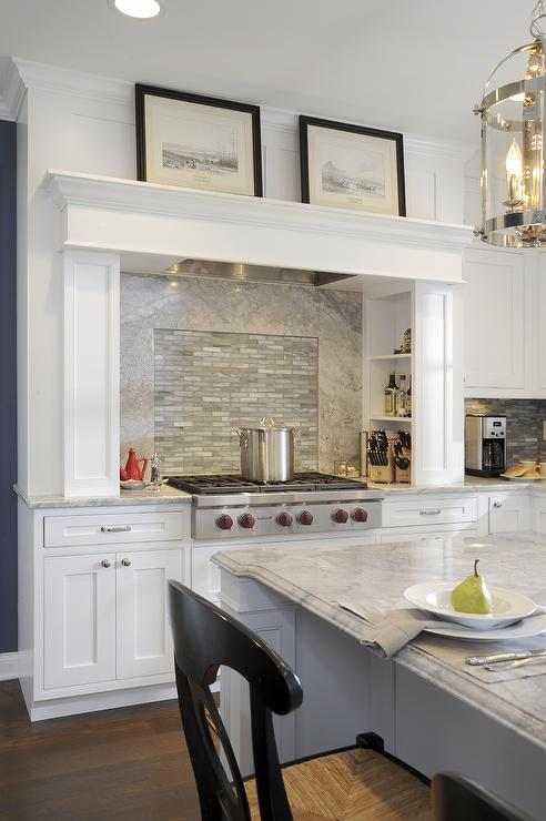 Alpine White Granite  Transitional  kitchen  Sherwin