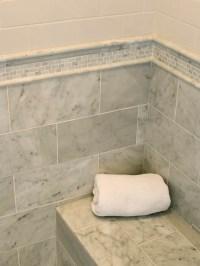 Marble Subway Shower Tile - Transitional - bathroom ...