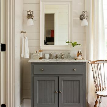 Attractive Vessel Sink Vanity For Your Single Bathroom Decoration With