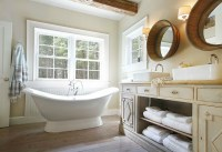 Repurposed Double Vanity - Cottage - bathroom - Maeve's Way