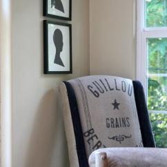 Gray Chevron Chair 1940 Wooden High Vintage Grain Sack Curtains Design Ideas