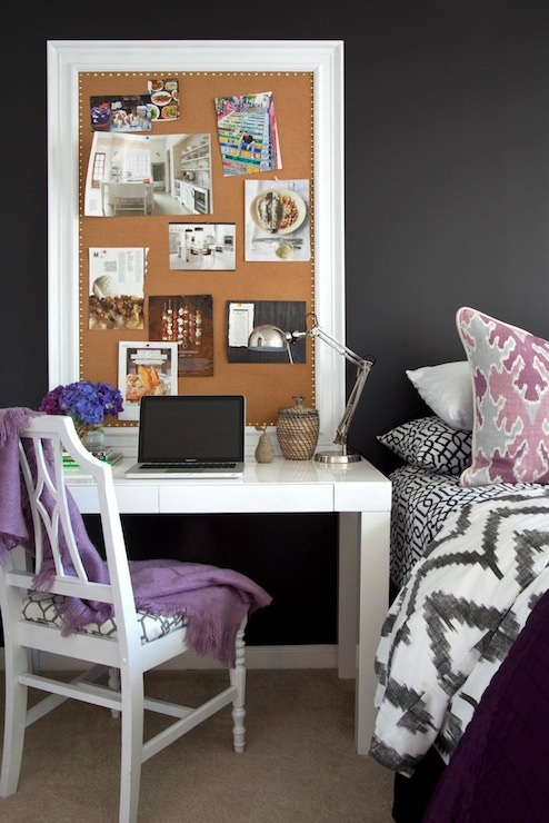 lilac office chair kids play chairs chevron duvet - contemporary bedroom benjamin moore onyx dayka robinson designs