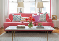 Pink Sofa - Eclectic - living room - Caitlin Wilson Design