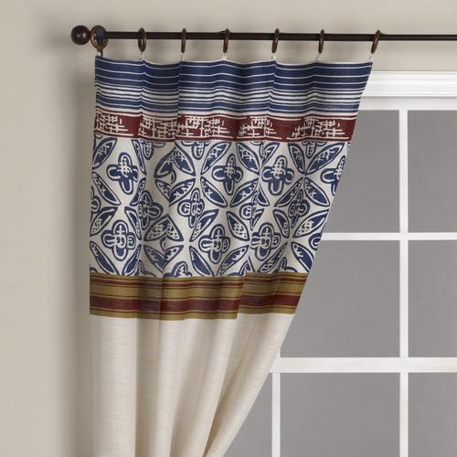 Pagoda Stripes Jute Curtain Panel  World Market